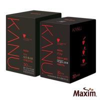 MAXIM麥心 韓國KANU孔劉美式 深焙/中焙 黑咖啡2盒組(1.6g×30入/盒)
