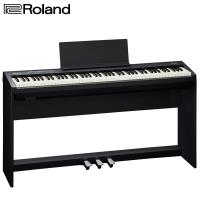 【Roland 樂蘭】FP-30 數位電鋼琴 黑色88鍵 含腳架組及琴椅(內附安裝說明書)