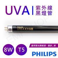 【飛利浦PHILIPS】UVA紫外線8W黑燈管(驗鈔燈管) 波蘭製 TL-8WBLB