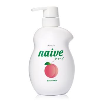 【日本 kracie 葵緹亞】Naive 娜艾菩植物沐浴乳(530ml)-保濕桃葉