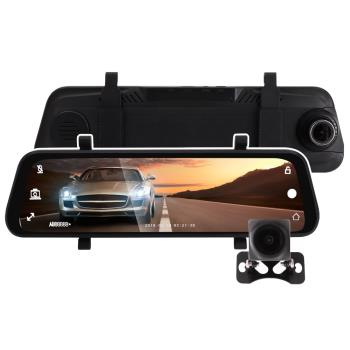 IS愛思 RV-18XW 8.8吋全螢幕電子後照鏡雙鏡頭1080P行車記錄器