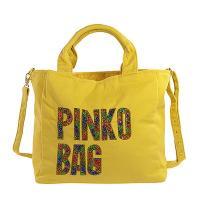 PINKO 經典帆布閃耀LOGO手提/斜肩背包(黃色)