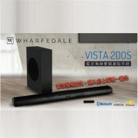 【Wharfedale】Vista200S/Vista 200S聲霸(藍芽無線SOUNDBAR+超低音)
