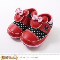 魔法Baby 女寶寶鞋 迪士尼米妮正版真皮中底女童鞋 sk0654