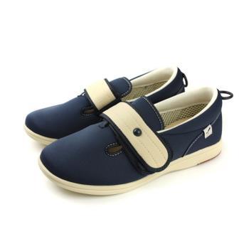 Moonstar PASTEL 408 介護鞋 戶外休閒鞋 深藍色 男鞋 PA4085 no081