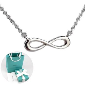 TIFFANY Infinity迷你無限符號925純銀墜飾項鍊