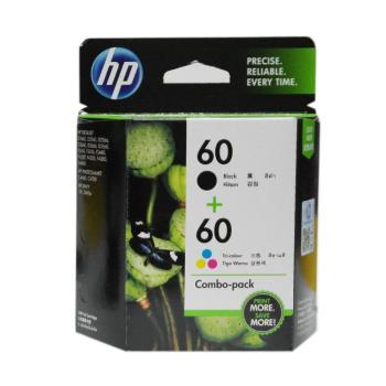 HP NO.60 雙包裝墨水匣CN067AA (黑色+彩色)