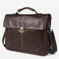 【米蘭精品】手提包真皮公事包-經典15.6吋牛皮電腦包73ur41