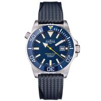 DAVOSA BG W9超級夜光排氦氣300米潛水專用錶-湛藍橡膠錶帶/42mm