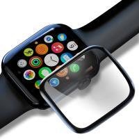 Baseus for Apple Watch Series 3/2/1 全螢幕曲面玻璃貼-黑色