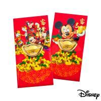 Disney迪士尼系列金飾-黃金元寶紅包袋-迪士尼家族+吉祥美妮款
