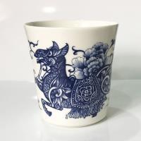青花皇后楊莉莉-馬 生肖杯~駿馬奔騰