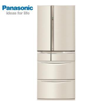 送2,000元商品卡  Panasonic國際牌 一級能效 601L 日製變頻6門電冰箱-香檳金 NR-F604VT-N1
