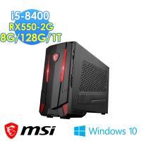 msi微星 Nightblade RX550-2G電競桌機(i5-8400/8G/128G+1T/RX550-2G/Win10)