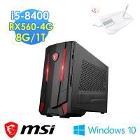 msi微星 Nightblade RX560-4G電競桌機(i5-8400/8G/1T/RX560 AERO-4G/Win10)
