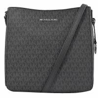 MICHAEL KORS JET SET TRAVEL 滿版LOGO斜背包.黑