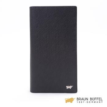 BRAUN BUFFEL  HOMME-M系列17卡長夾 -黯黑 BF306-301-BK