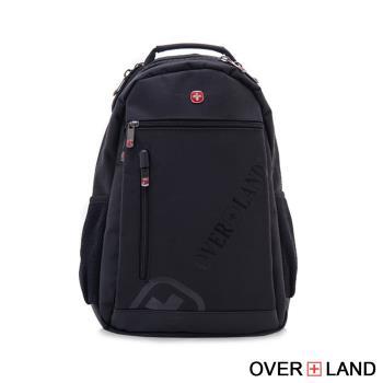 OVERLAND - 美式十字軍 - 潮流造型品牌LOGO浮印後背包 - 3143