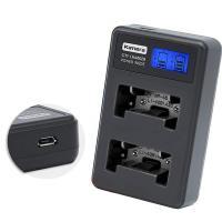 Kamera佳美能 液晶雙槽充電器 for Pentax D-LI63(一次充兩顆電池)