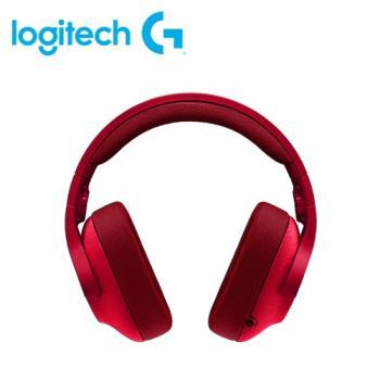 【logitech 羅技】G433 有線遊戲耳麥 火焰紅