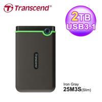【Transcend 創見】StoreJet 25M3 2TB 薄型行動硬碟 TS2TSJ25M3S 軍綠