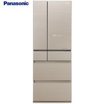 登記送氣炸鍋+3,000元商品卡  Panasonic國際牌日本製600L一級能效六門變頻冰箱(翡翠金)NR-F604HX-N1(庫)