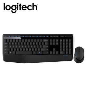 【logitech 羅技】MK345 無線鍵盤滑鼠組 【贈棉麻印花面紙套】