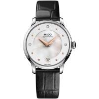 MIDO美度 BARONCELLI永恆系列晨夕鑲鑽機械套錶組 M0392071610600