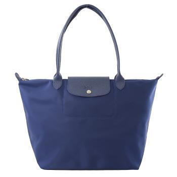 Longchamp Le Pliage 折疊長揹帶肩提包.深藍 #1899