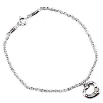 TIFFANY Open Heart心型墜飾925純銀手鍊