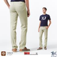 【NST Jeans】【涼夏】淡卡其 涼感纖維x彈性纖維 休閒直筒長褲(中腰) 390(5667)