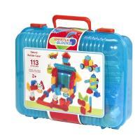 美國B.Toys-鬃毛積木_叢林冒險系列(128PCS)-手提桶裝