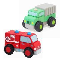Mentari 立體積木回收車+消防車