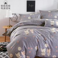 BELLE VIE 活性印染100%精梳純棉 雙人鋪棉兩用被床包四件組 夢幻精靈