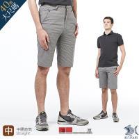 【NST Jeans】雷尼克頓 銀灰細棋盤格 斜口袋休閒短褲(中腰) 390(9450)