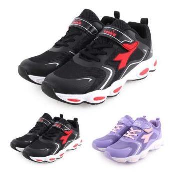 DIADORA 男女中童慢跑鞋-路跑 訓練 魔鬼氈 童鞋