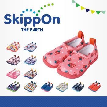 【日本SkippOn】「ISEAL VU系列」兒童休閒機能鞋〈草莓點點 〉