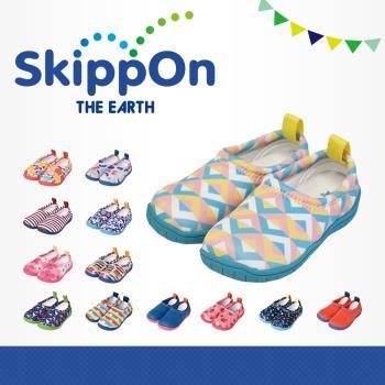 【日本SkippOn】「ISEAL VU系列」兒童休閒機能鞋(幾何馬卡龍)