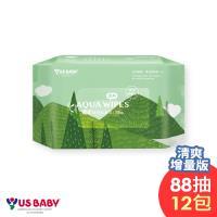 優生純淨柔濕巾88抽x12包-清爽型(送4隻史努比奶瓶)