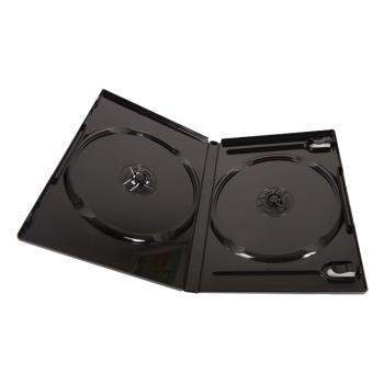 EXCH 雙片DVD精裝優質軟盒/黑色 1箱(100PCS)  DVD-02-100