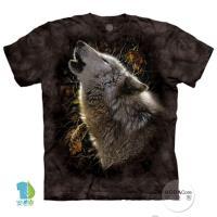 摩達客(預購)美國進口The Mountain  秋狼之歌 純棉環保藝術中性短袖T恤