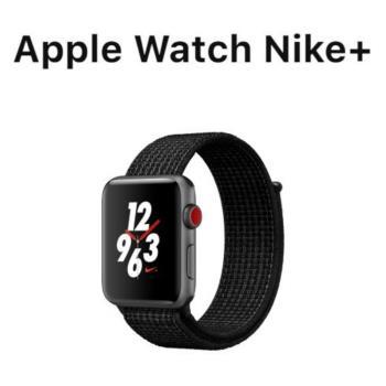 Apple Watch Series3 LTE GPS+行動網路 Nike+ 42mm太空灰鋁/黑錶環(MQMH2TA/A)