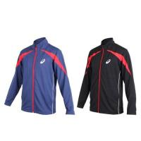 ASICS 男針織運動外套-立領外套 慢跑 路跑 亞瑟士