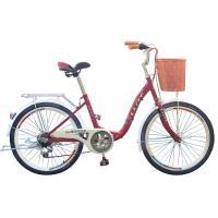 BIKEONE L8 26吋6速SHIMANO學生變速淑女車 低跨點設計時尚文藝女力通勤新寵兒 自行車城市悠遊、通勤車代步最佳首選