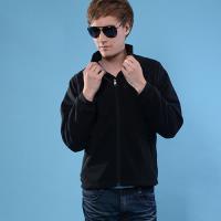 【FOX FRIEND】保暖刷毛外套/台灣刷毛布料黑色(361F)