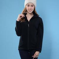 【FOX FRIEND】女保暖刷毛外套/台灣刷毛布料黑色(360F)