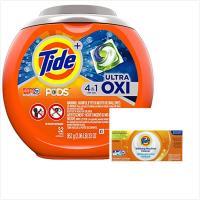 Tide汰漬洗衣凝膠球-4in1活氧配方(952g/32顆)x1盒+洗衣槽洗潔劑(75gx5/盒)x2盒