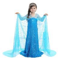 麗莎熊 LisaBear 韓版冰雪奇緣Elsa艾莎女王全亮片披風洋裝 童裝兒童小洋裝 表演服裝