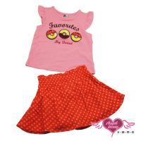 天使霓裳-童裝 午茶甜圈 兒童背心短裙兩件組套裝(粉) GSH13021