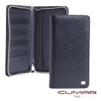 【CUMAR】證件拉鍊長夾-EVE II系列-經典黑(多用途/高容量/隨身收納/旅遊)
